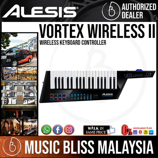 Alesis Vortex Wireless II Wireless Keyboard Controller - Music Bliss Malaysia