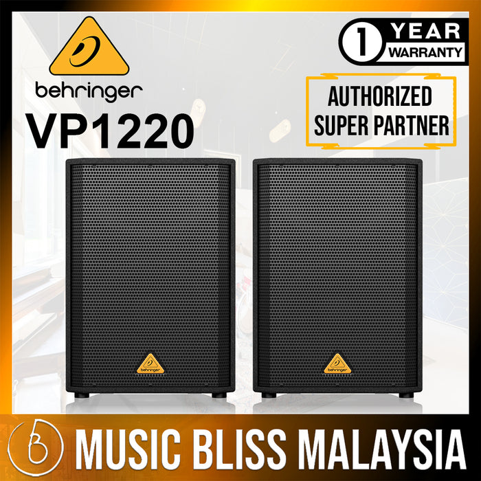 Behringer Eurolive VP-1220 Passive PA Speaker - Pair (VP1220) *Crazy Sales Promotion* - Music Bliss Malaysia