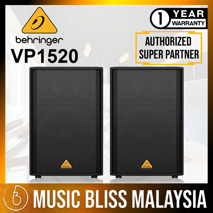 Behringer Eurolive VP-1520 Passive PA Speaker - Pair (VP1520) *Crazy Sales Promotion* - Music Bliss Malaysia