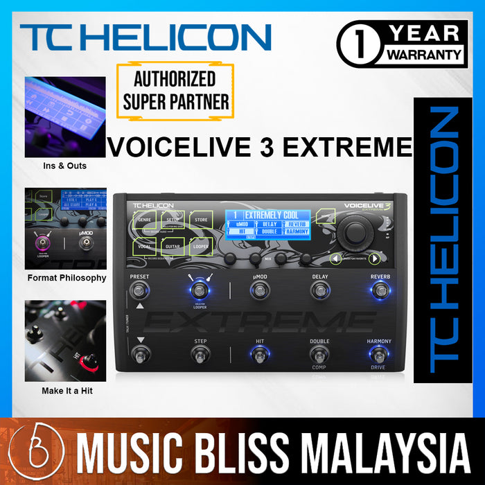 TC-Helicon VoiceLive 3 Extreme Vocal Effects Pedal - Music Bliss Malaysia