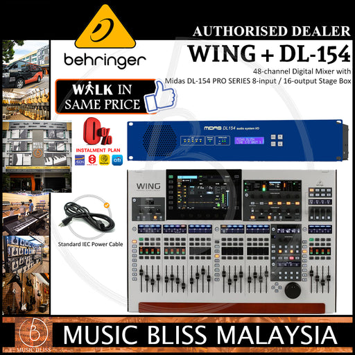 Behringer WING 48-channel Digital Mixer with Midas DL-154 PRO SERIES 8-input / 16-output Stage Box (DL154) *Crazy Sales Promotion*