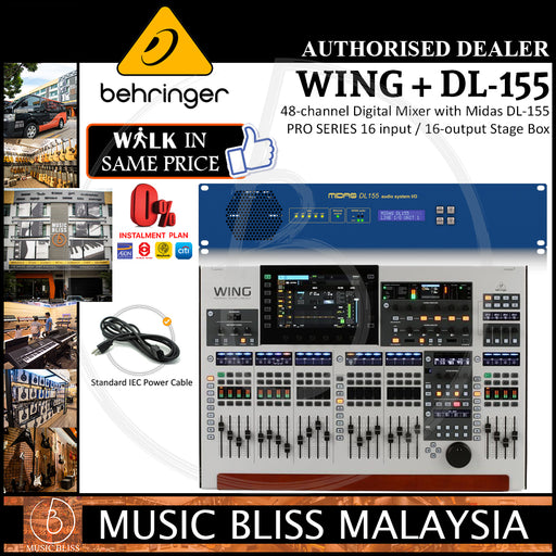 Behringer WING 48-channel Digital Mixer with Midas DL-155 PRO SERIES 16-input / 16-output Stage Box (DL155) *Crazy Sales Promotion*