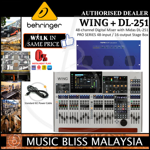 Behringer WING 48-channel Digital Mixer with Midas DL-251 PRO SERIES 48-input / 16-output Stage Box (DL251) *Crazy Sales Promotion*