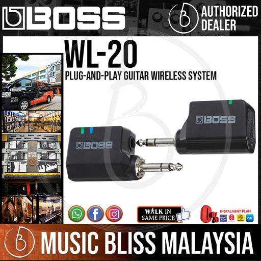 Boss WL-20 Digital Wireless Guitar System with Cable Tone Simulation (WL20)