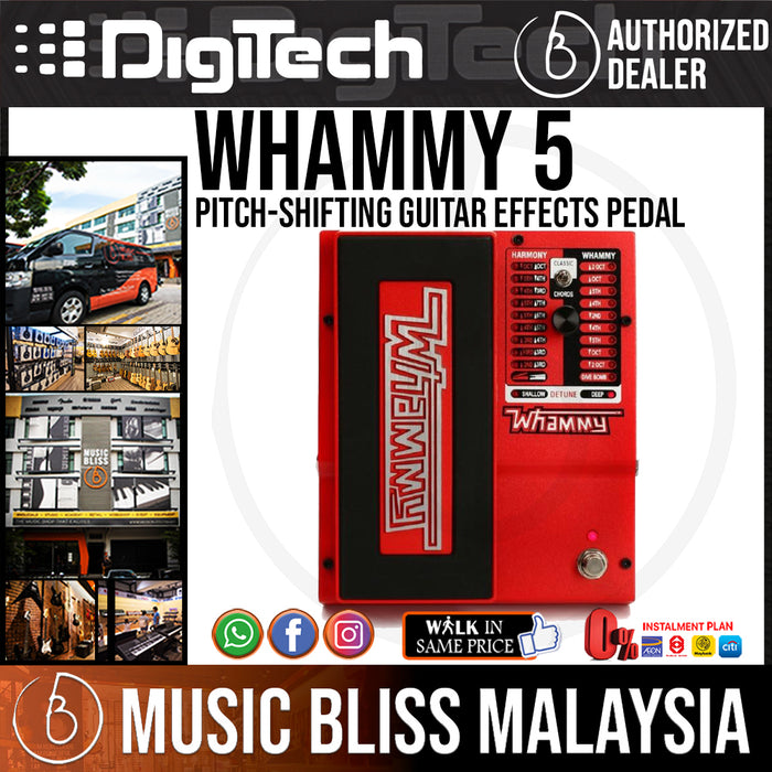 DigiTech Whammy 5 Pitch-Shifting Guitar Effects Pedal - Music Bliss Malaysia