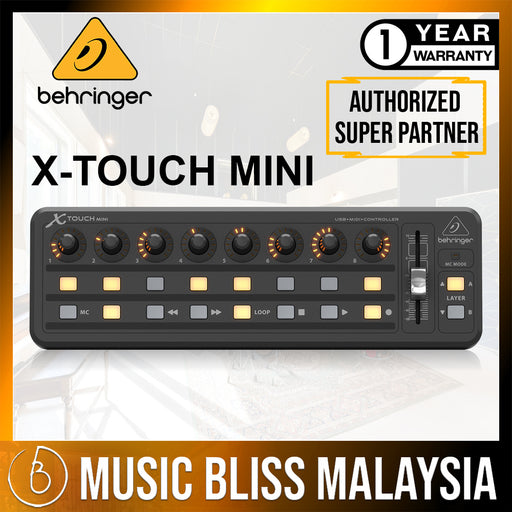 Behringer X-Touch Mini Compact USB Control Surface (Xtouch Mini) *Crazy Sales Promotion* - Music Bliss Malaysia