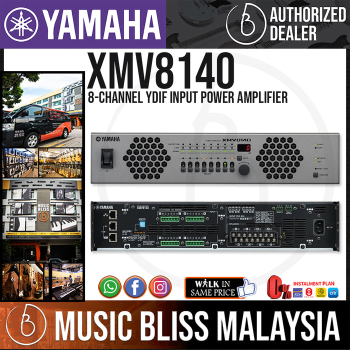 Yamaha XMV8140 8-Channel YDIF Input Power Amplifier (XMV-8140) - Music Bliss Malaysia