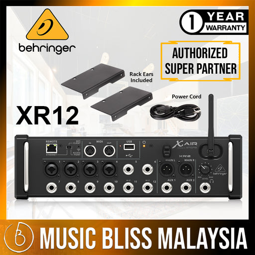Behringer X Air XR12 Tablet-controlled Digital Mixer (XR-12) * Crazy Sales Promotion * - Music Bliss Malaysia