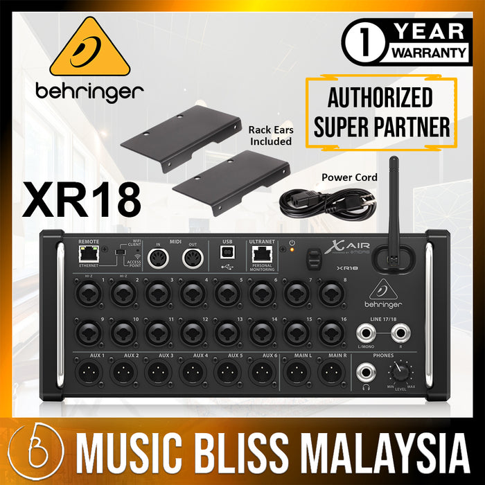 Behringer X Air XR18 Tablet-controlled Digital Mixer (XR-18) * Crazy Sales Promotion * - Music Bliss Malaysia