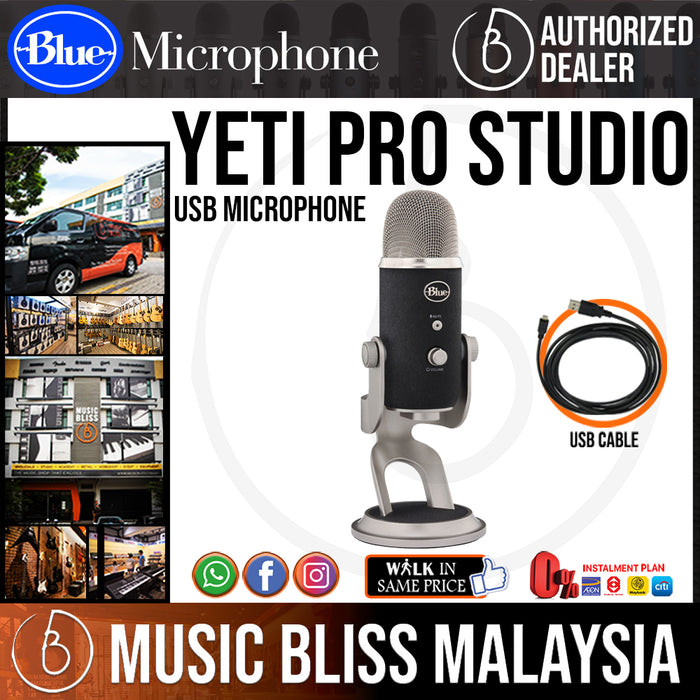 Blue Microphones Yeti Pro Studio USB Microphone - Music Bliss Malaysia