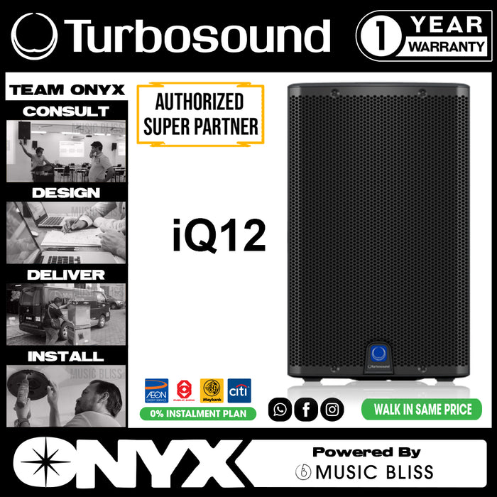 "Turbosound iQ12 2500W 12"" Powered Active Speaker Pair (iQ-12) - Music Bliss Malaysia"