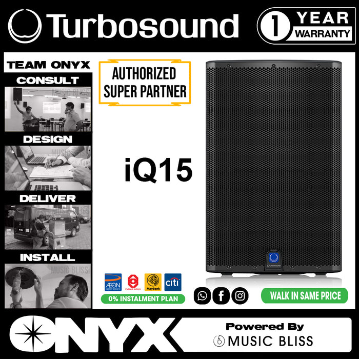 "Turbosound iQ15 2500W 15"" Powered Active Speaker Pair (iQ-15) - Music Bliss Malaysia"