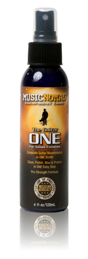 Music Nomad MN103 Guitar ONE All-in-1 Cleaner, Polish and Wax, 4 oz. (MN-103)