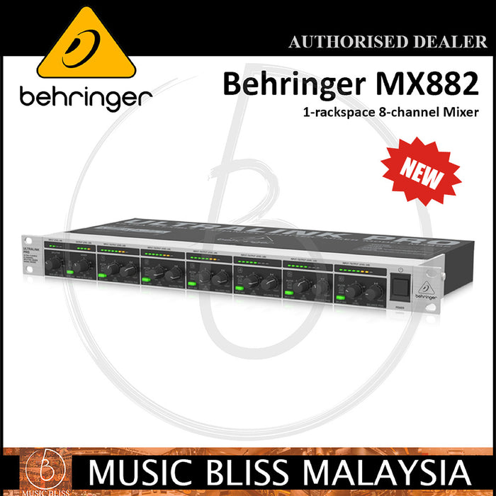 Behringer Ultralink PRO MX882 Rackmount Mixer / Splitter (MX-882) - Music Bliss Malaysia