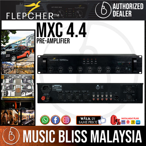 Flepcher MXC-4+4 4 Mono 4 Stereo Pre-amplifier (MXC44) - Music Bliss Malaysia