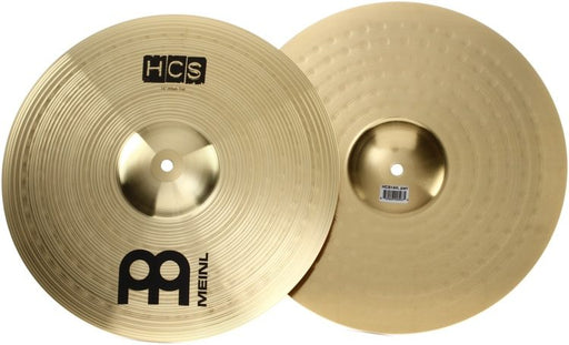 "Meinl Cymbals HCS14H 14"" HCS Brass Hihat (Hi hat) Cymbals for Drum Set, Pair"