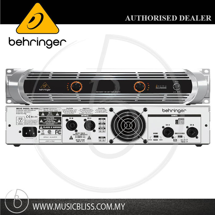 Behringer iNUKE NU1000 2-channel Power Amplifier (NU-1000)