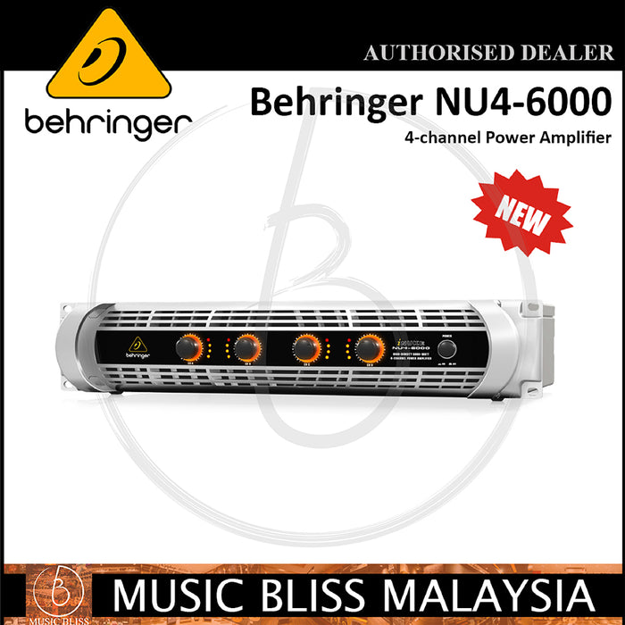 Behringer iNuke NU4-6000 4-channel Power Amplifier (NU46000) - Music Bliss Malaysia