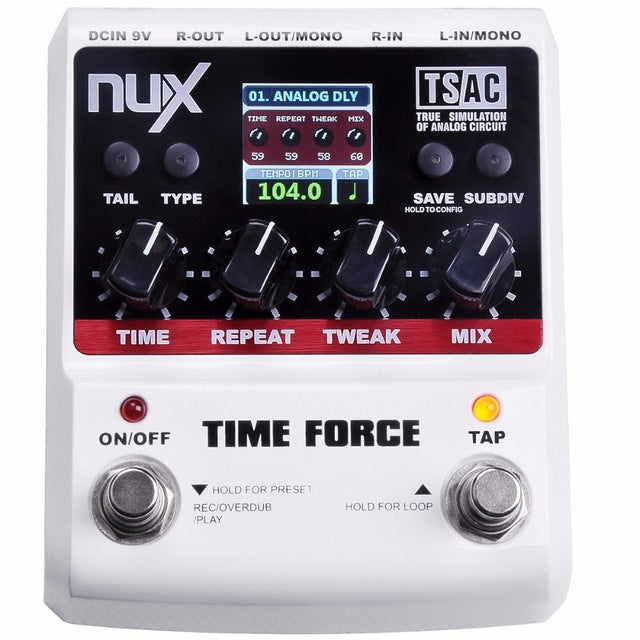 NUX Time Force Multi Digital Delay Effect Pedal - Music Bliss Malaysia