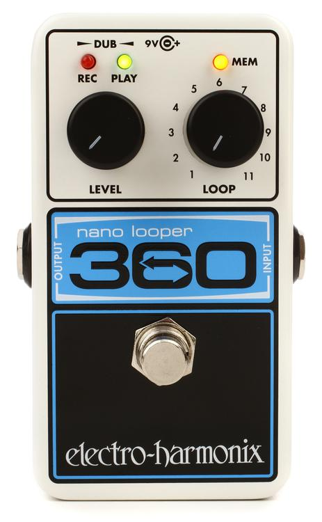 Electro-Harmonix Nano Looper 360 Looping Pedal for Guitar or Bass