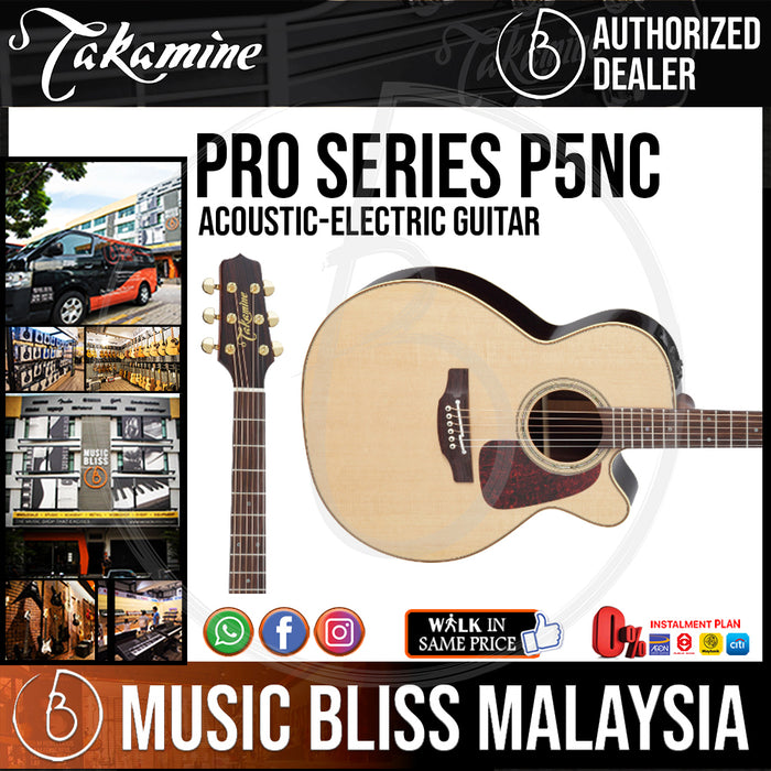 Takamine P5NC - (Natural) 6-string Acoustic-Electric Guitar with Spruce Top - Music Bliss Malaysia