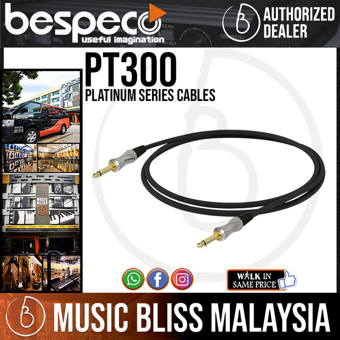 Bespeco PT300 Platinum Series Cables (PT-300) *Crazy Sales Promotion* - Music Bliss Malaysia