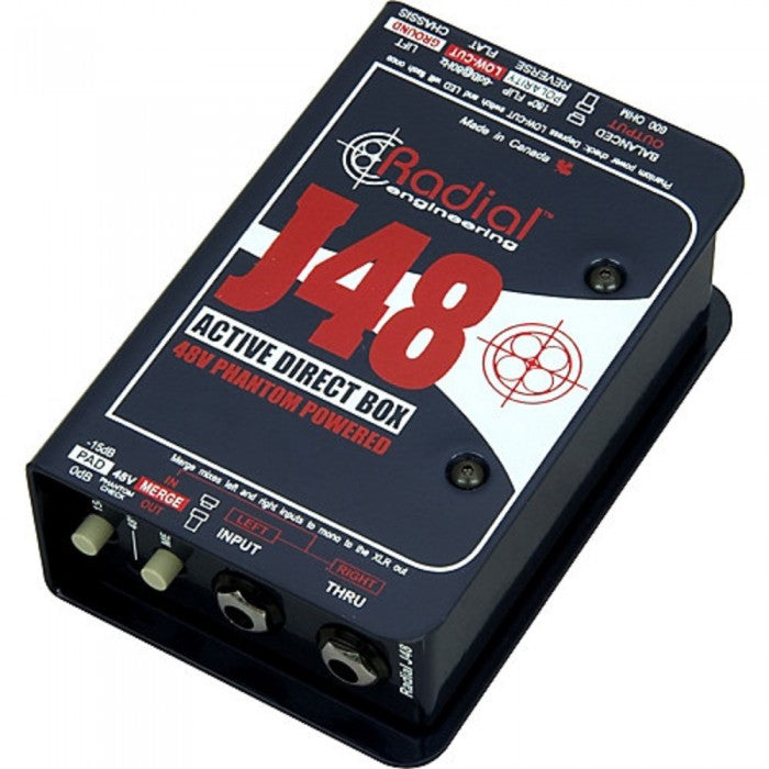 Radial Engineering J48 1-channel Active DI for Passive Guitars & Basses