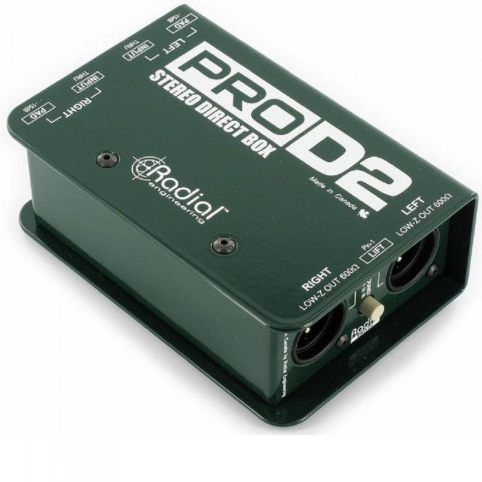 Radial Engineering Pro-D2 Stereo DI For Keyboard, Active Guitars & Basses  (Pro D2)