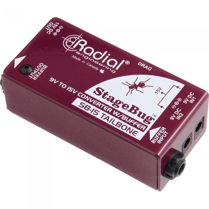 Radial Engineering StageBug SB-15 Signal Buffer For Driving Pedal/Long Cables without Noise (SB15)