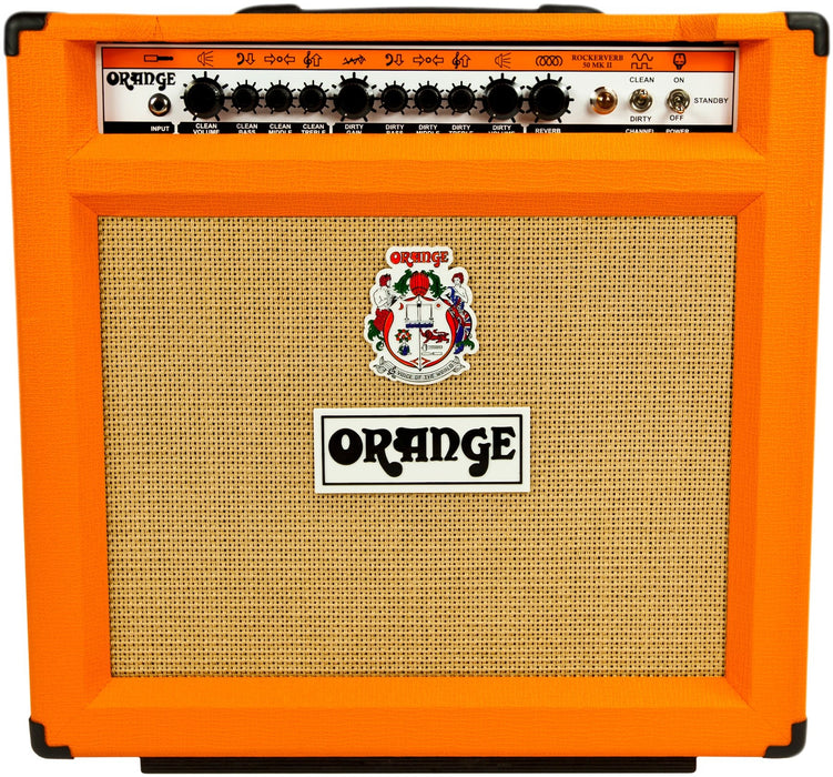 Orange RK50C 112 Rockerverb 50-watt 1x12 Twin Channel Guitar Combo Amplifier