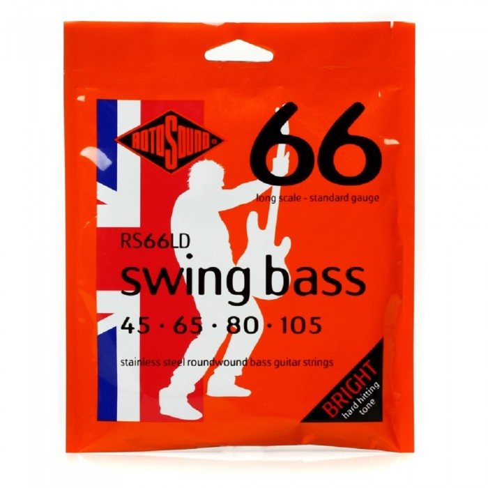 Rotosound RS66LD Swing Bass 66 4-String Bass Guitar Strings (45-105)