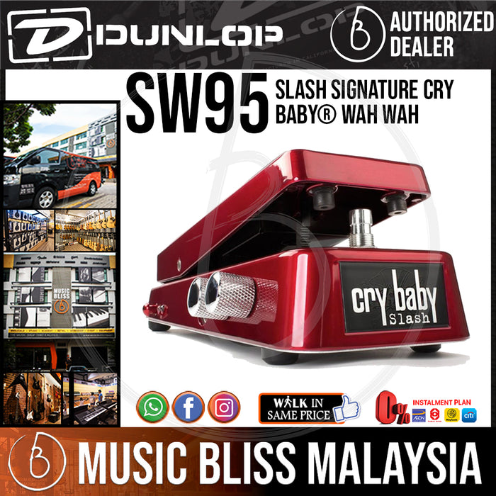 Jim Dunlop SW95 Slash Signature Cry Baby Wah Pedal (SW-95 / SW 95) *Crazy Sales Promotion* - Music Bliss Malaysia