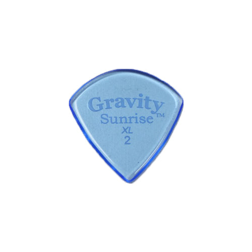 Gravity Picks GSUX2P Sunrise XL 2.0mm Polished Blue