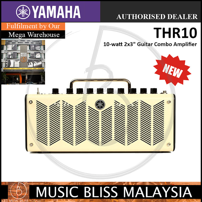 Yamaha THR10 10-watt 2x3 Modeling Combo Amplifier (THR-10) - Music Bliss Malaysia