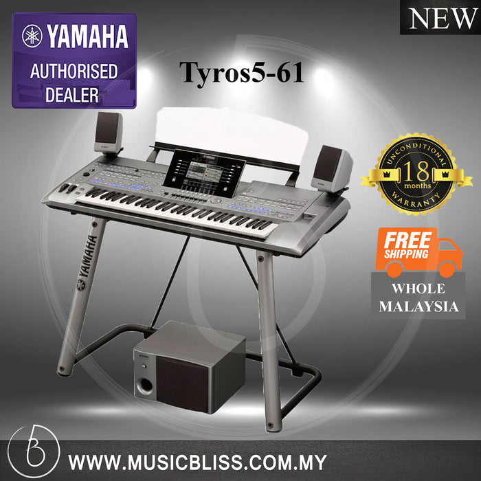 Yamaha Tyros5-61 61-Keys Arranger Workstation (Tyros5 61) - Music Bliss Malaysia