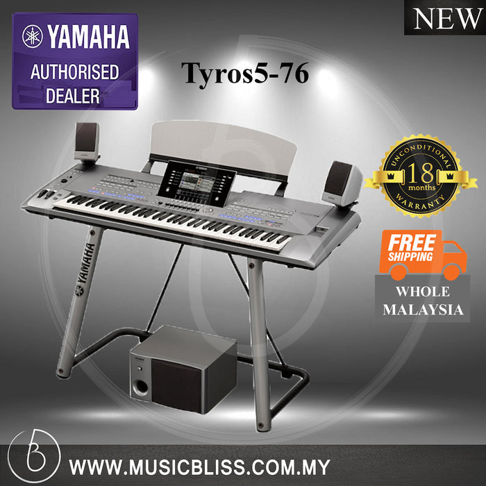 Yamaha Tyros5-76 76-Keys Arranger Workstation (Tyros5 76) - Music Bliss Malaysia
