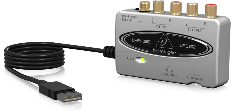 Behringer U-Phono UFO-202 USB Audio Interface (UFO202) *Crazy Sales Promotion* - Music Bliss Malaysia