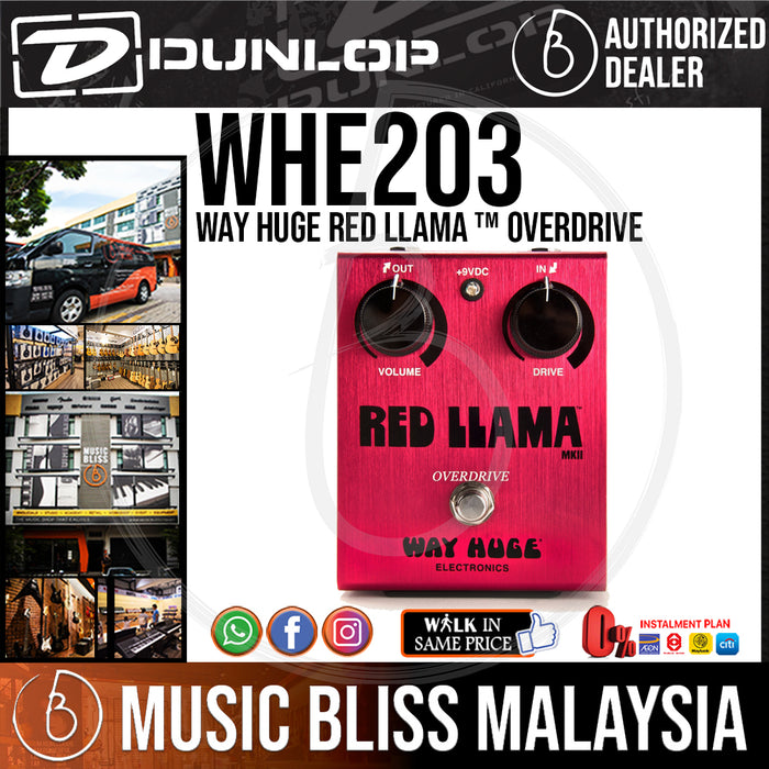 Jim Dunlop Way Huge WHE203 Red Llama Overdrive Guitar Effects Pedal (WHE-203 / WHE 203) *INSANE Sales Promotion* - Music Bliss Malaysia