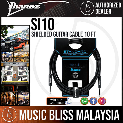 Ibanez SI10 Shielded Guitar Cable 10 ft (SI-10) - Music Bliss Malaysia
