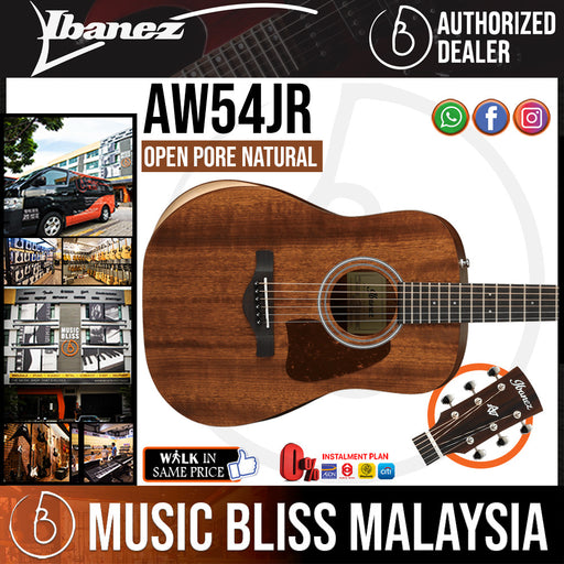 Ibanez Artwood AW54JR Acoustic Guitar - Open Pore Natural (AW54JR-OPN) *Price Match Promotion*