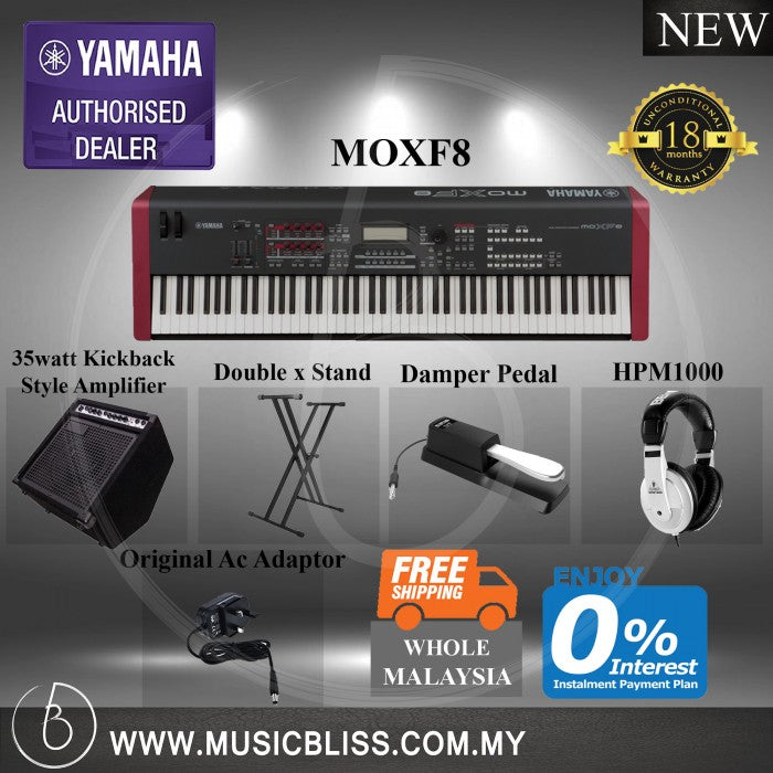Yamaha MOXF8 Synthesizer 7 in 1 Package 0% Credit Card Installment and Free Shipping Whole Malaysia (MOXF 8)