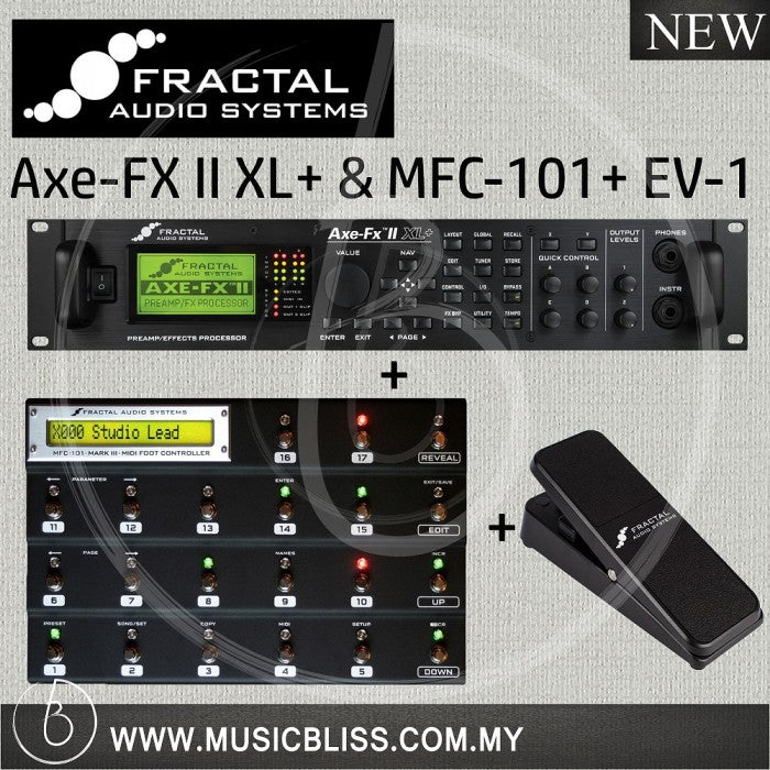 Fractal Audio Axe-FX II XL+ and MFC-101 with EV-1 Expression Pedal
