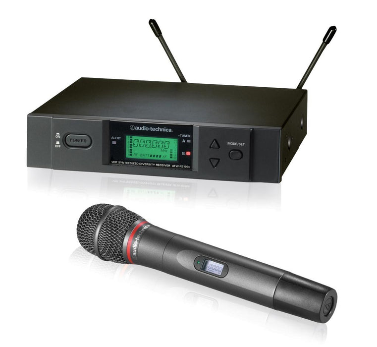 Audio Technica ATW-3141B Systems 3000 (Handheld Transmitter System) with ATW-T341b Handheld Microphone (Audio-Technica ATW3141B) - Music Bliss Malaysia