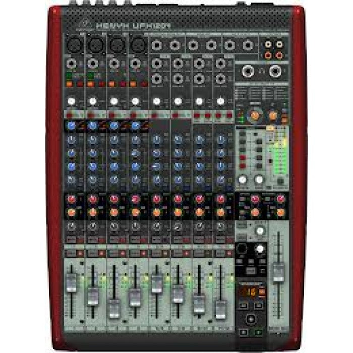 Behringer Xenyx UFX1204 Analog Mixer and USB Audio Interface with Effects (Xenyx-UFX1204) - Music Bliss Malaysia