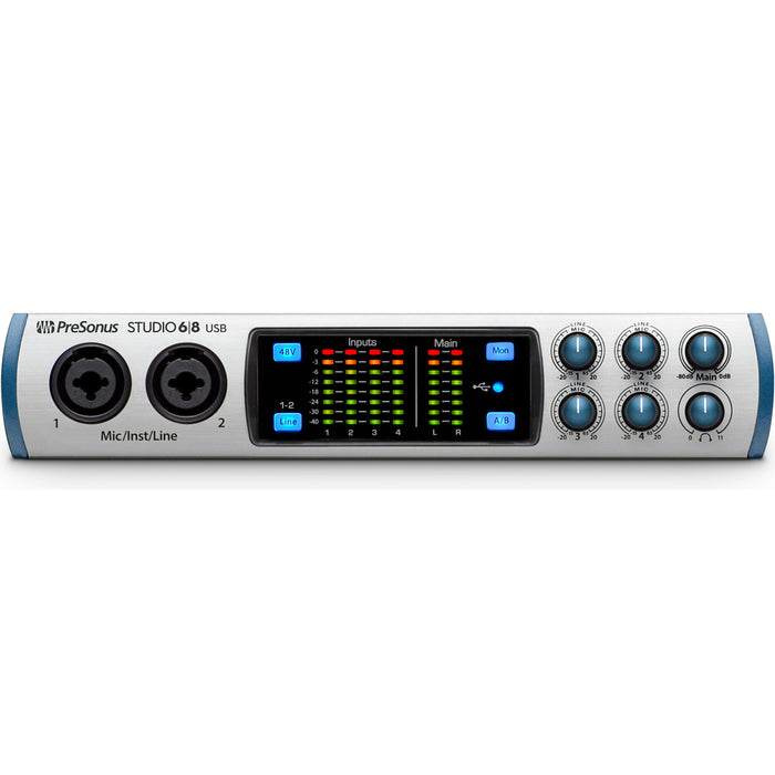 PreSonus Studio 6|8 USB 6x6 USB Audio Interface with 4 XMAX Preamps - Music Bliss Malaysia