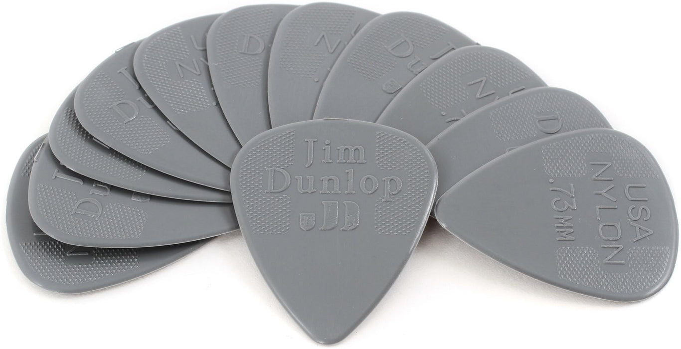 Jim Dunlop Guitar Pick 44P.73 .73mm Nylon Standard 12-Pack