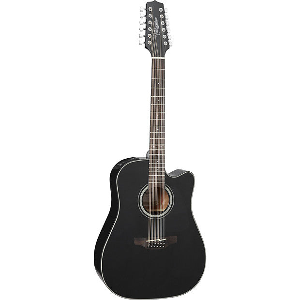 Takamine GD30CE 12-string - (Black) 12-string Acoustic-Electric Guitar with Solid Spruce Top - Music Bliss Malaysia