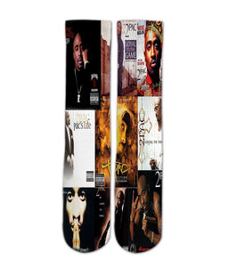 2pac classic album socks elite socks- athletic customized socks