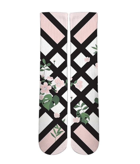 Floral Print Graphic socks