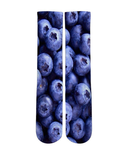 Blue Berry graphic socks